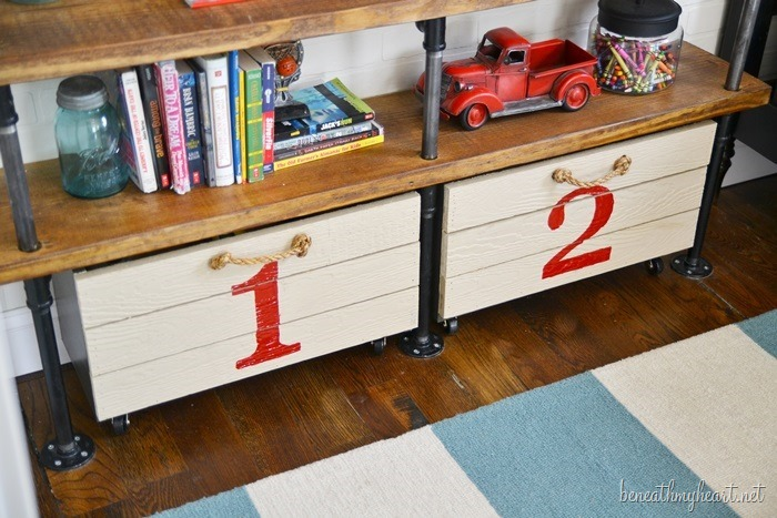 DIY Rolling Storage Crate {for the boys' room}