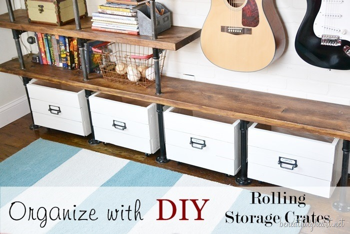 diy wood storage crates