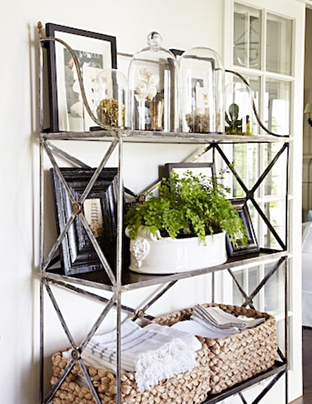 I Absolutely Love These Open Shelves In The Dining Room: Beautiful Cottage Style Home Tour