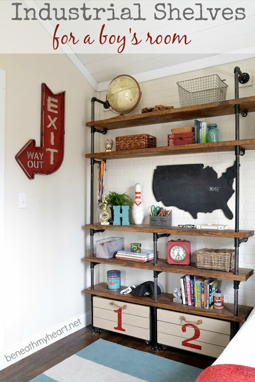 industrial shelves from beneathmyheart.net