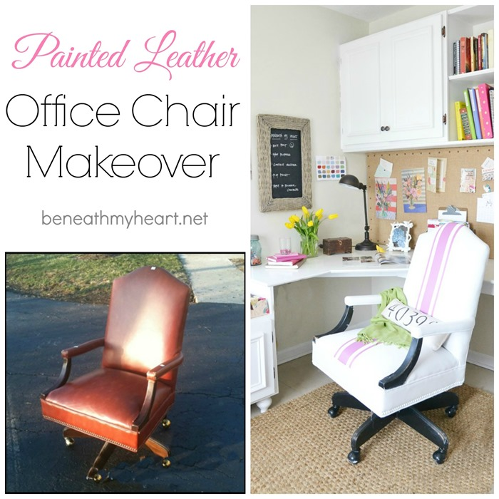 painted leather office chair