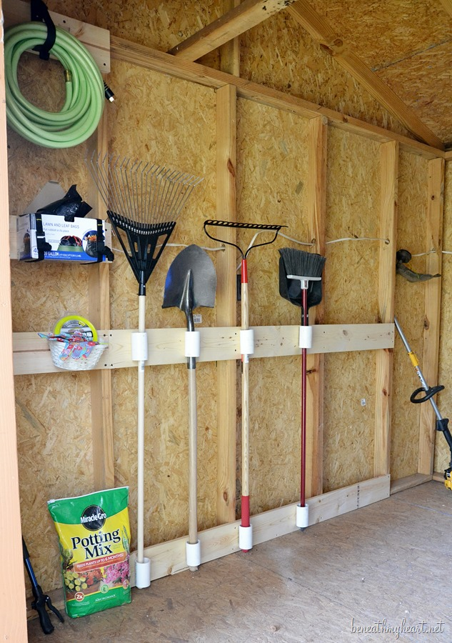 ideas how build a garage over inside garden - Tool Shed Makeover 3M DIY Beneath My Heart