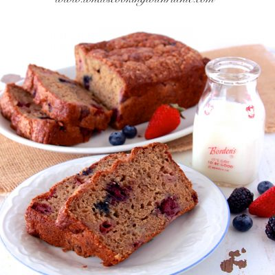Triple Berry Banana Bread