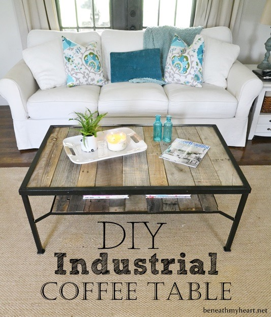 Coffee Table Makeover {Industrial}