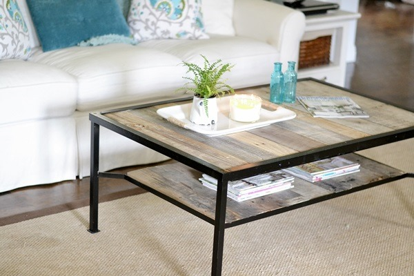 coffee table makeover industrial beneath my heart. Black Bedroom Furniture Sets. Home Design Ideas