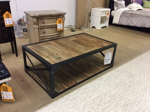 Coffee table makeover industrial beneath my heart Eclectic coffee table makeovers