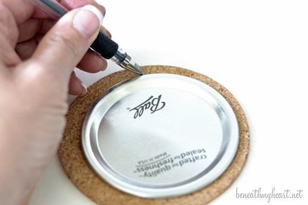 Diy Mason Jar Lid Coasters Beneath My Heart