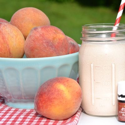 Cinnamon Peach Smoothie {with Essential Oils}