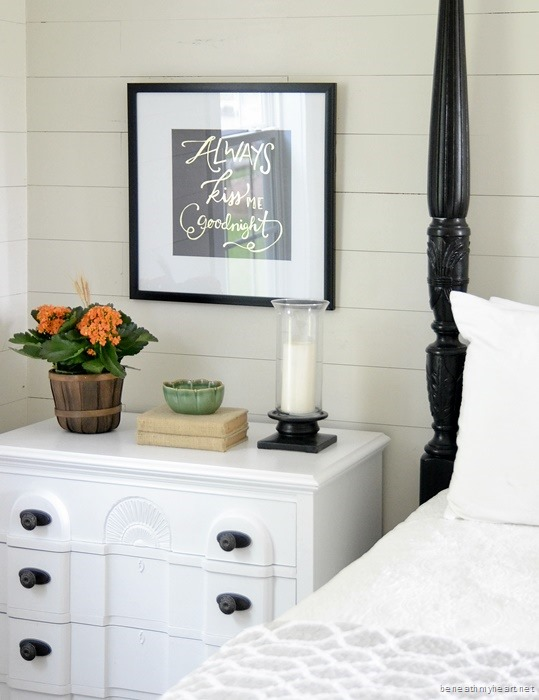 Bedside Table Makeover Beneath My Heart