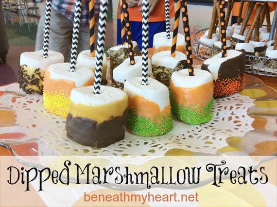 Dipped Marshmallow Treats