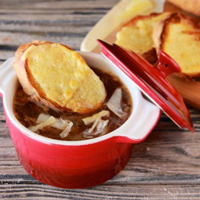 French Onion Soup with Baguette
