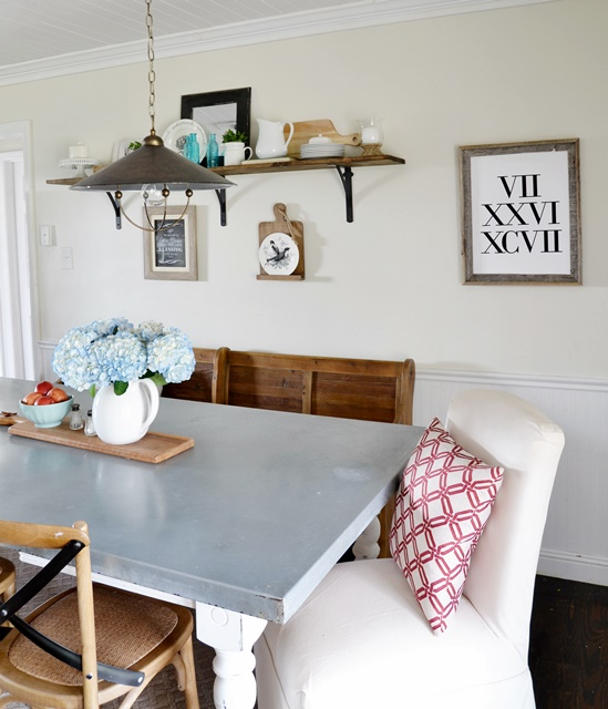 Dining Area Makeover Reveal