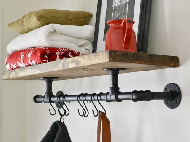 DIY Industrial Coat Rack Beneath My Heart Simple Diy Coat Rack Pipe