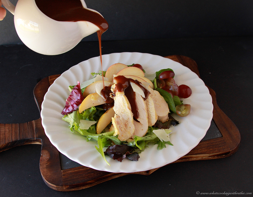 Harvest Chicken Salad with Raspberry Balsamic Dressing