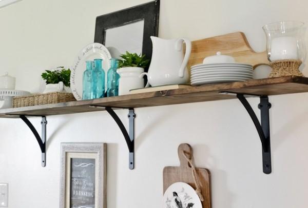 DIY Kitchen Open Shelf