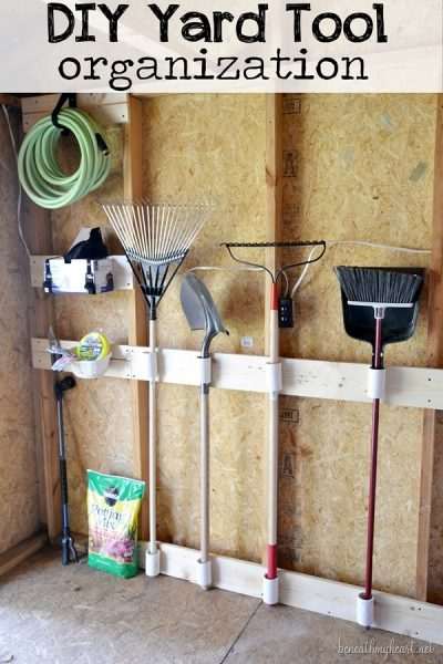 DIY Yard Tool Organization