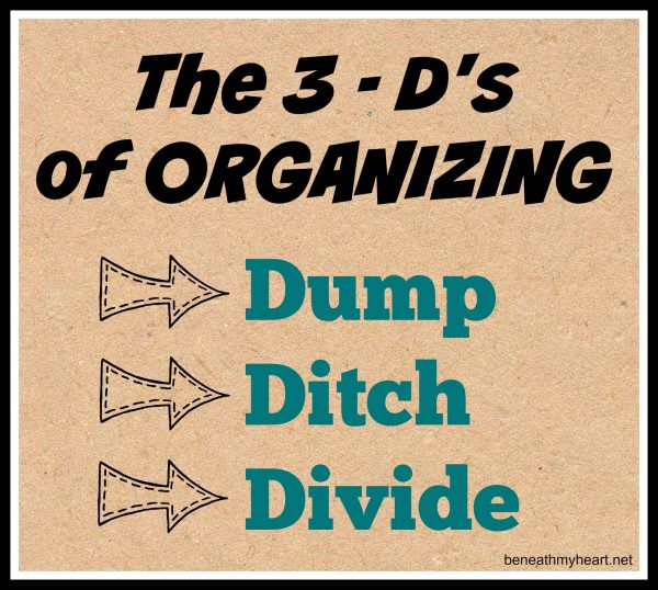 3-d's of organizing
