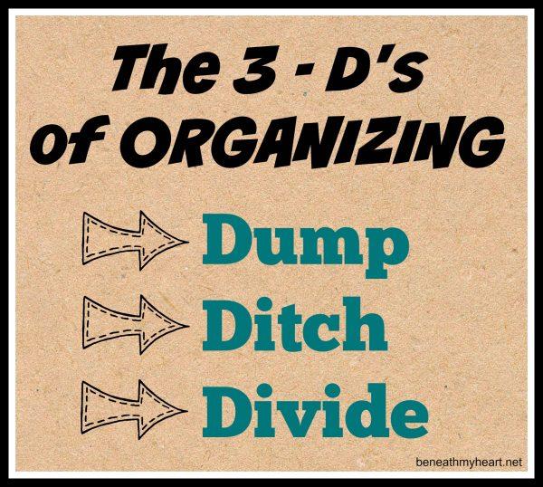 3-d's of organizing