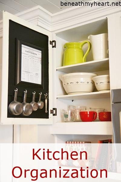 Kitchen Organization Measuring Cups Beneath My Heart
