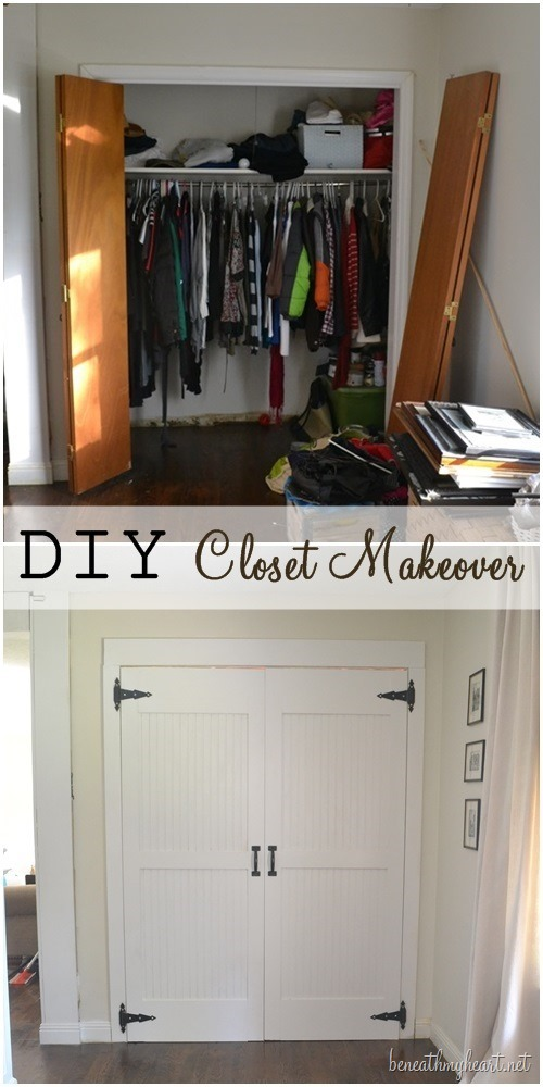 diy closet door makeover