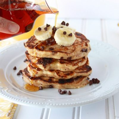 Banana Chocolate Chip Pancakes!