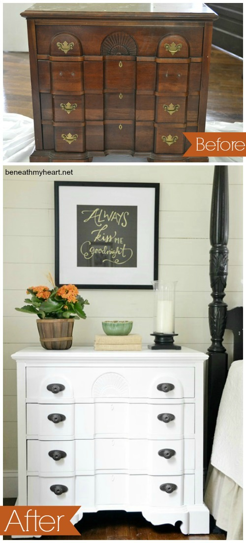 Beside table makeover
