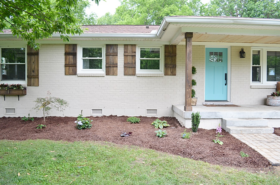 Lowe S Home Exterior Makeover Reveal Beneath My Heart