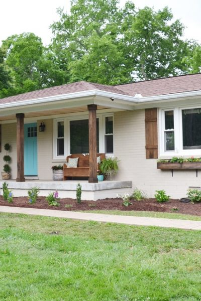 Lowe's Home Exterior Makeover Reveal