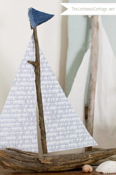 DIY Wood Sailboat | The Lettered Cottage
