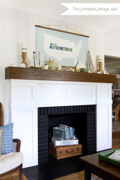 Summer Mantel | The Lettered Cottage