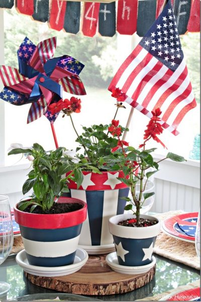 Patriotic Centerpiece {Southern Hospitality!}