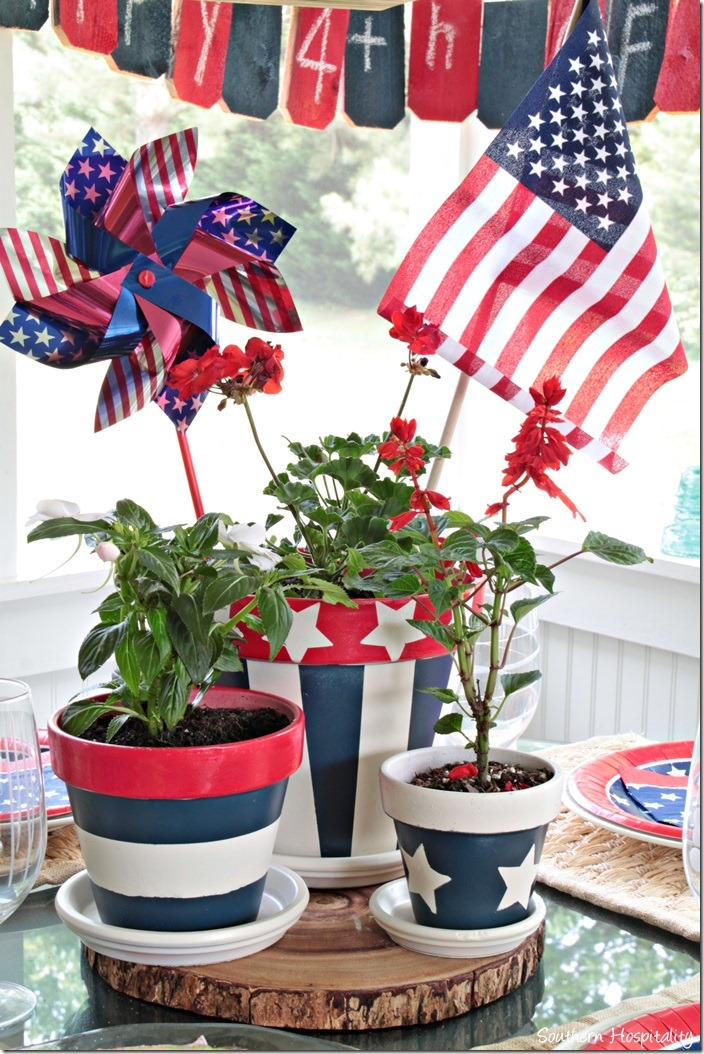 Patriotic Centerpiece Southern Hospitality Beneath My
