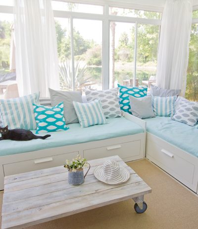 Gorgeous Sunroom Makeover!  {Jenna Sue Designs}