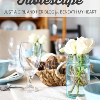 A Coastal Tablescape {Just a Girl and Her Blog}