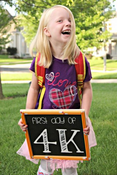 First Day of School Chalkboard Templates {All Things G&D}