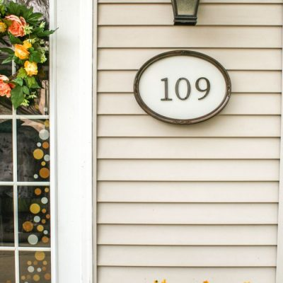 DIY House Numbers {DIY Show Off}