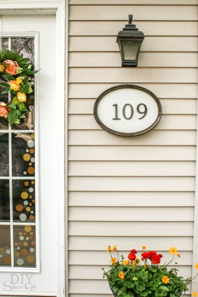 framed house numbers tutorial
