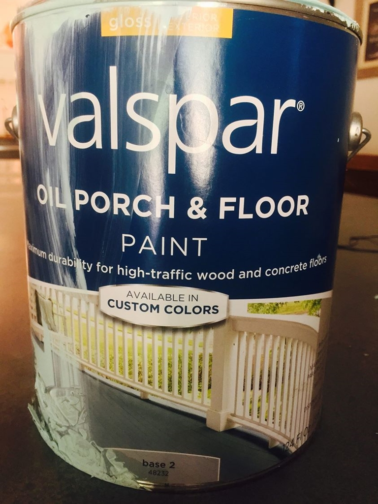Valspar Porch and Floor paint