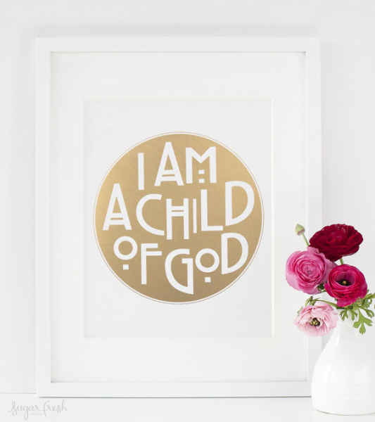 I am a child of god gold