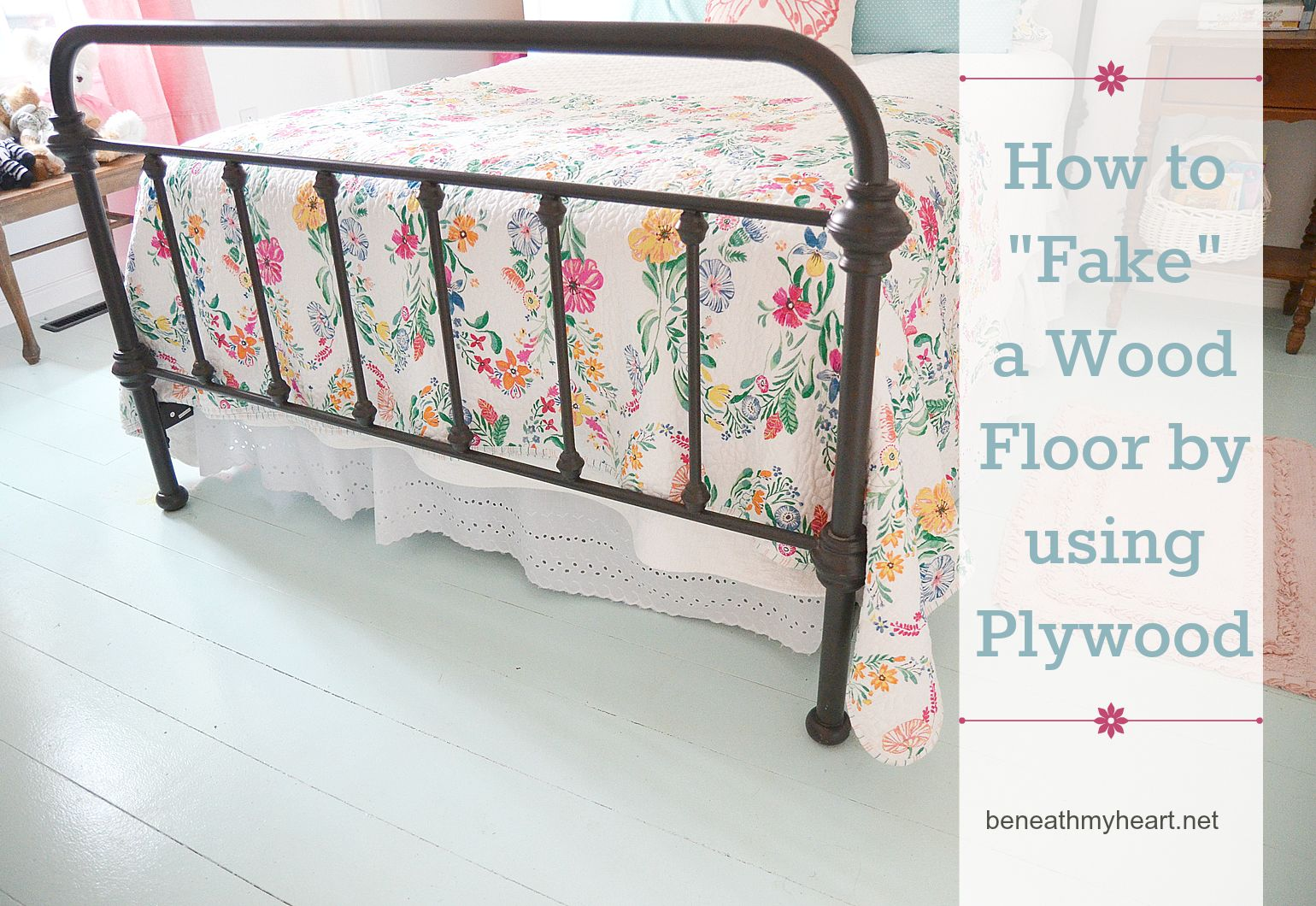 how to fake a wood floor by using ply