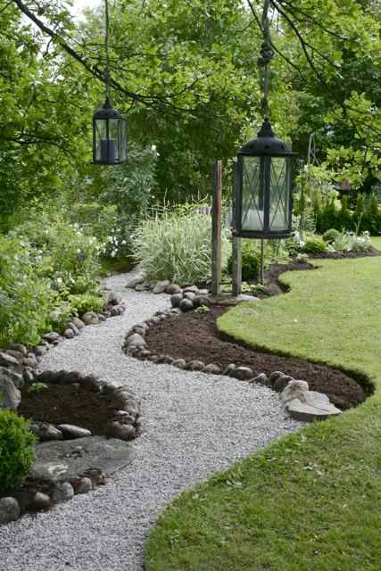 Gravel Walkway Inspiration {For our Front Porch}