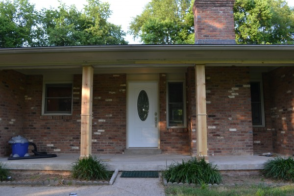 Adding a front porch to a brick ranch beneath my heart for 10 foot porch columns