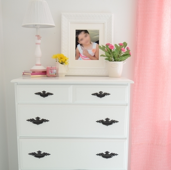 Dresser Makeover {for our girl's room}