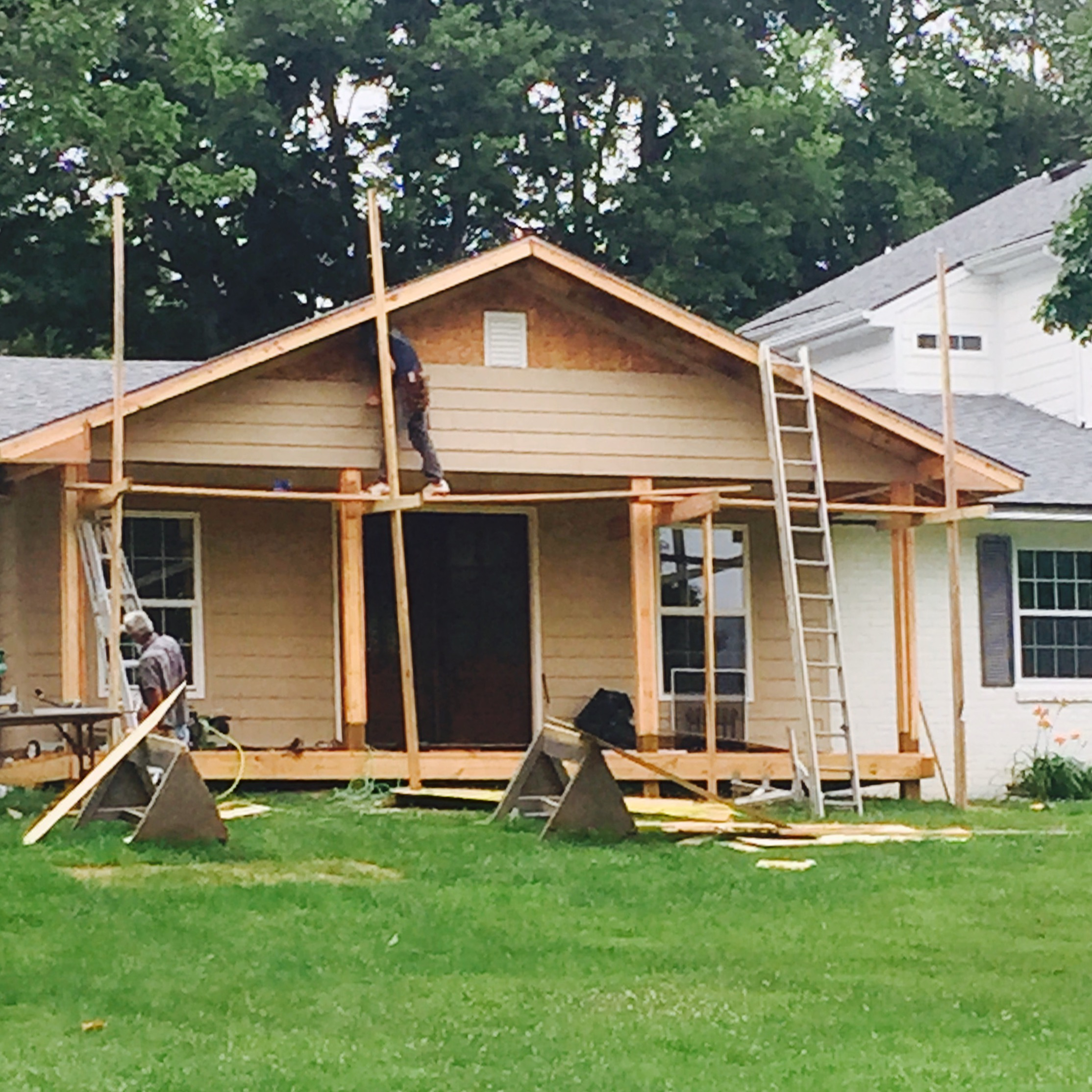 Roof Design Ideas: Our Front Porch From Beginning To End