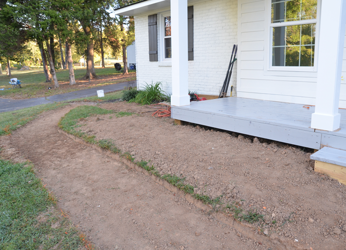 how to lay a gravel walkway