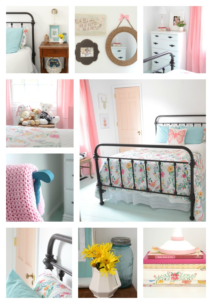 Girl's room collage