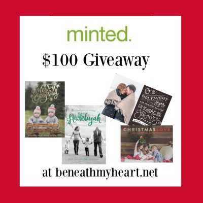 Christmas Cards from Minted {THREE $100 Giveaways!}
