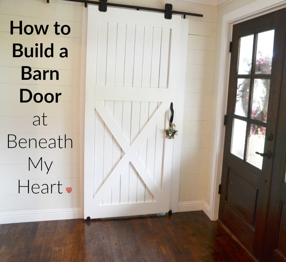 How To how to make a barn door images : How to Build a Barn Door - Beneath My Heart