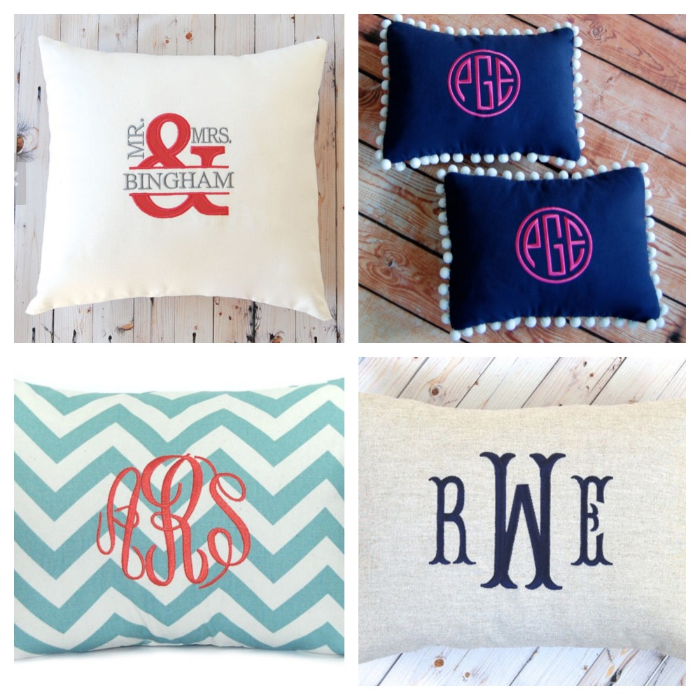 MONOGRAMMED PILLOWS