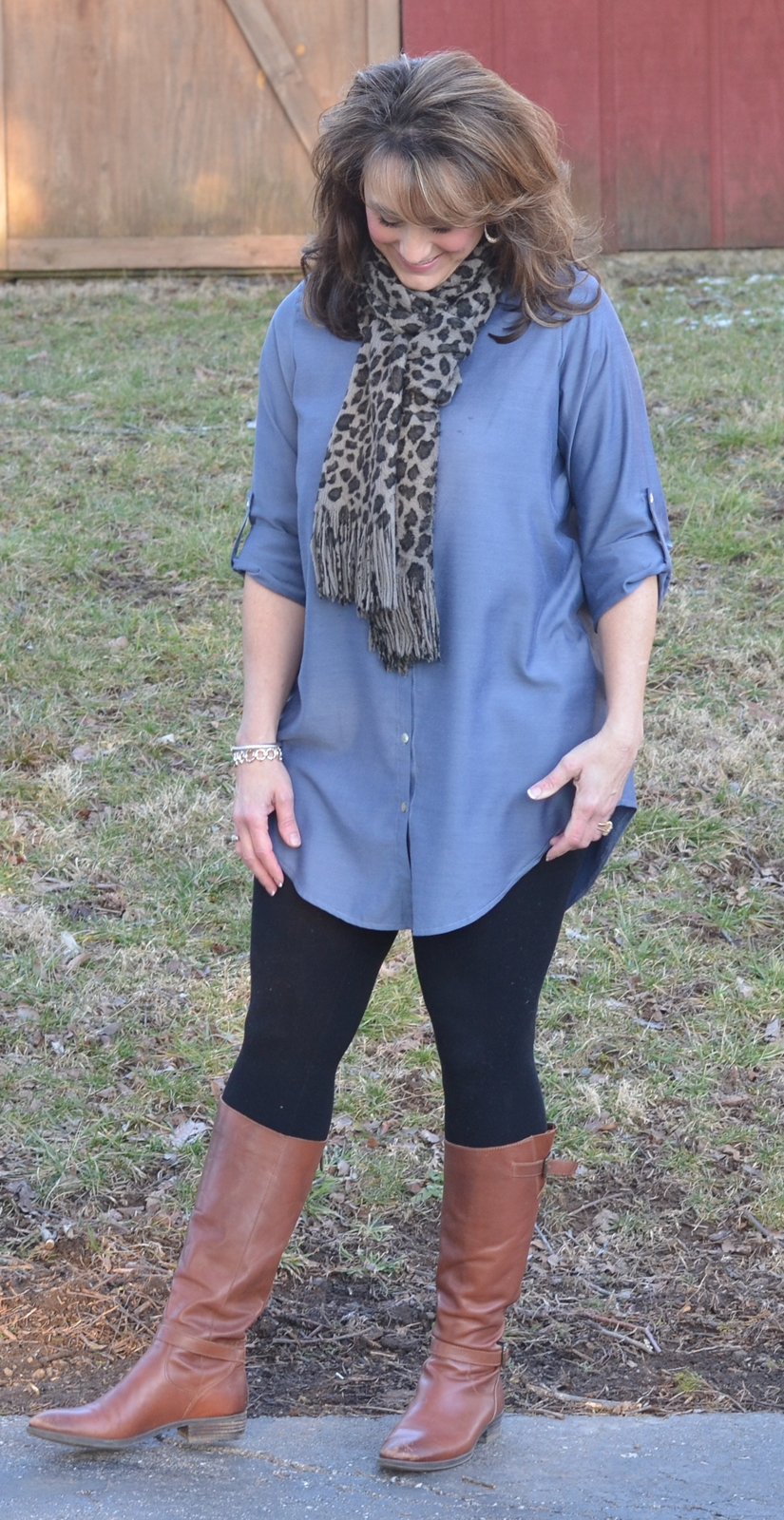 Blue Dreams Button Up Tunic - Glamour Farms Boutique